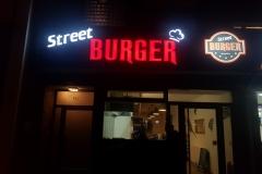 3D Werbeanlage Street Burger