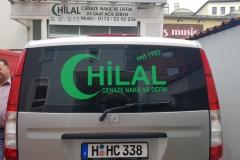 Fahrzeugbeschriftung HILAL Bestattung